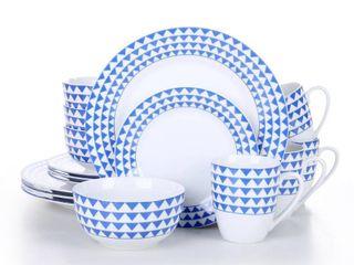 MAlACASA  Series Flora  Grey Stoneware Dinnerware Set For 6  Retail 119 99