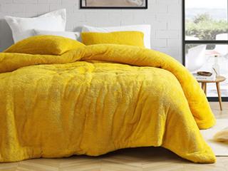 Coma Inducer Ochre Oversized Teddy Bear Comforter Retail 121 99