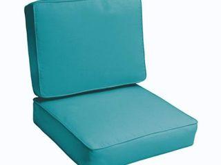 Sloane Aqua Blue 23 5 inch Indoor  Outdoor Corded Chair Cushion Set Retail 133 49
