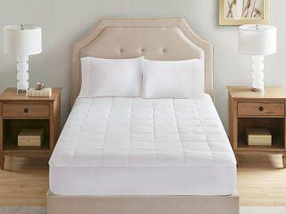 Sleep Philosophy 300 Thread Count White Tencel Filled Mattress Pad