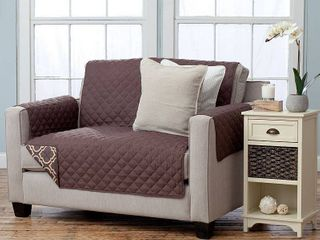 Home Fashion Designs Adalyn Collection Printed Reversible love Seat Protector   loveseat