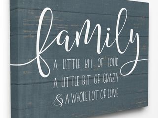 Stupell Industries Family loud Crazy love Wall Art Retail 85 99