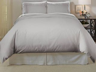 Pointehaven 620 Thread Count Cotton 3 Piece Full Queen Duvet Set Bedding