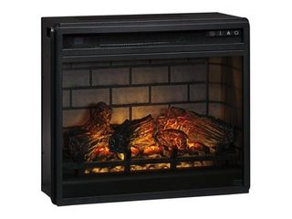 Entertainment Accessories Contemporary Fireplace Insert Infrared Black Retail 262 49