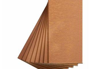 Aspect Peel and Stick Backsplash 3inx6in Brushed Copper Short Grain Metal Tile for Kitchen and Bathrooms