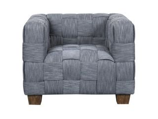 Woven Indigo Basket weave Upholstered Accent Chair Retail 434 99