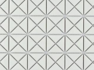 SomerTile 10 75x10 75 inch Tri Mini Crossover Matte White Porcelain Mosaic Floor and Wall Tile  10 tiles 8 21 sqft  Retail 140 22