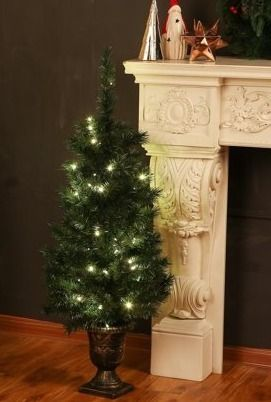 4 Ft Pre lit Artificial Green Cashmere Mixed Porch Tree Retail 94 49