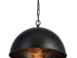 Merce Collection Pendant D15 H10 lt 1 Vintage Black Finish Retail 122 40