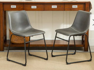 Carbon loft Inyo PU leather Dining Chairs  Set of 2  Retail 119 99