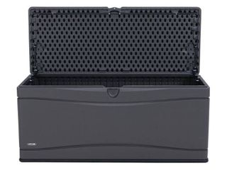 lifetime 60298 Heavy Duty Outdoor Storage Deck Box  130 Gallon  Gray