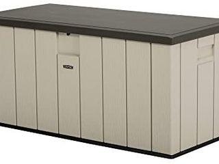 lifetime 60254 Heavy Duty Outdoor Storage Deck Box  150 Gallon  Desert Sand Brown