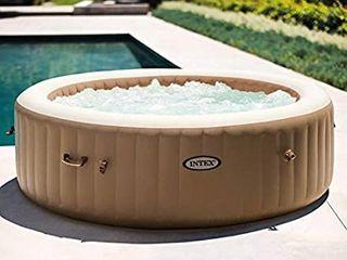 Intex 28427E 85in PureSpa Inflatable Spa  6 Person  Tan