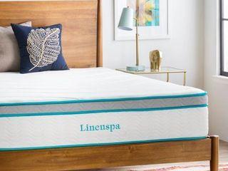 linenspa 12 Inch Gel Memory Foam and Innerspring Hybrid Mattress   Twin