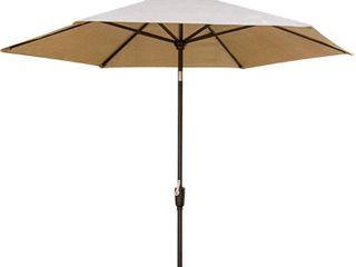 EliteShade Sunbrella 11Ft Market Umbrella Patio Outdoor Table Umbrella with Ventilation Heather Beige