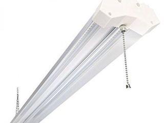 5000K lED Shop light linkable  4FT Daylight 42W lED Ceiling lights for Garages  Workshops  Basements  Hanging or FlushMount  with Plug and Pull Chain  4200lm  ETl  1 Pack