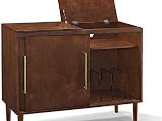 Crosley Furniture Everett Mid Century Modern Media Console  Mahogany
