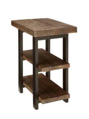 Carbon loft lawrence 2 shelf Rustic End Table  Retail 198 54
