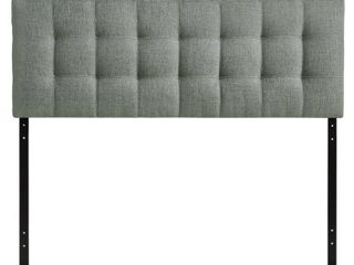 lily King Upholstered Fabric Headboard Gray   Modway