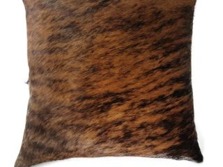 Pergamino Brindle Cowhide Pillow Cover and Pillow