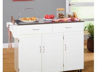Extra large Kitchen Cart White