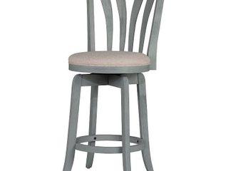 Hillsdale Furniture Savana Swivel Counter Stool  Blue  Retail 109 99