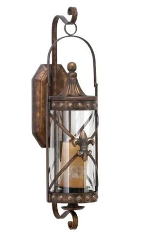 Gracewood Hollow Kane Metal and Glass Candle Sconce  Retail 76 48