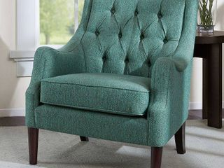 Madison Park Elle Button Tufted Accent Chair  Retail 313 99