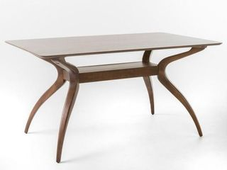 Salli Natural Walnut Table  Base Only  No Top