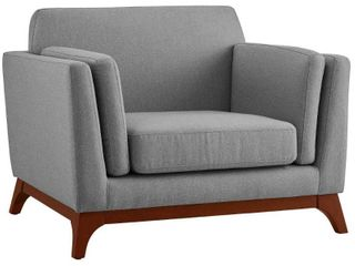Chance Upholstered Fabric Armchair light Gray   Modway Retail 503 99