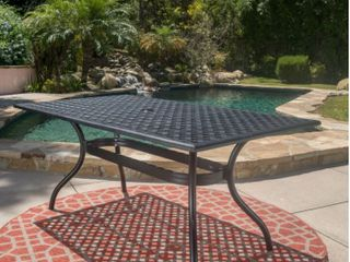 Cayman Outdoor Cast Aluminum Black Sand Table by Christopher Knight Home Retail 504 89