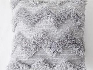 Handmade Knit Tassel Solid Velvet Embroidered Decor Pillowcase