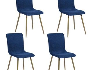 Scargill Blue Upholstered Textured Fabric Dining Chairs  Set of 4