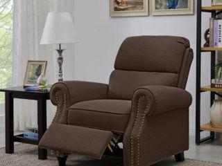 Copper Grove Jessie Brown linen Push Back Recliner Chair  Retail 433 99