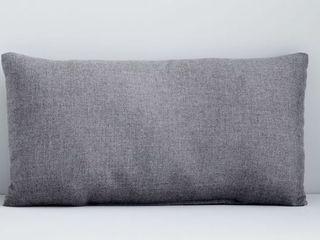 Sunbrella lumbar Grey Pillow