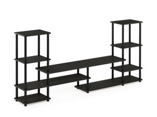 FURINNO Turn N Tube Grand Entertainment Center  Espresso Black