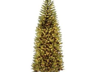 7 5ft National Christmas Tree Company Kingswood Fir Artificial Slim Christmas Tree Dual Color lED