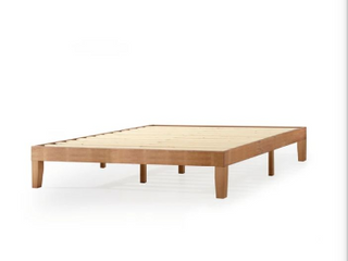 Mellow Naturalista Classic   12 Inch Solid Wood Platform Bed With Wooden Slat    Not Inspected