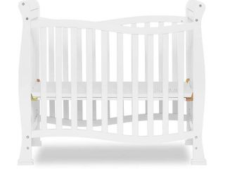 Dream On Me Piper 4 in 1 Convertible Mini Crib White   Not Inspected