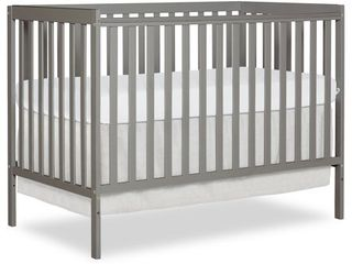 Dream On Me  Synergy 5 in 1 Convertible Crib  Cool Grey