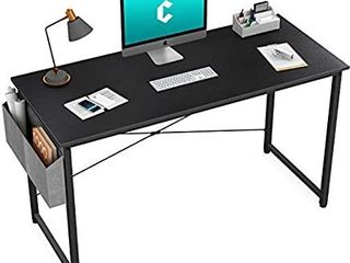 Cubiker Computer Home Office Desk  47  Small Desk Table with Storage Shelf and Bookshelf  Study Writing Table Modern Simple Style Space Saving Design  Black DAMAGED  NOT FUllY INSPECTED OUTSIDE BOX