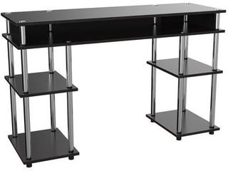 Convenience Concepts Designs2Go No Tools Student Desk  Black