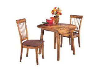 Signature Design by Ashley Berringer Dining Room Drop leaf Table  Rustic Brown CHAIRS NOT INClUDED
