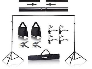 Emart 8 5 x 10 ft Photo Backdrop Stand   Adjustable Photography Muslin Background Support System Stand for Photo Video Studio