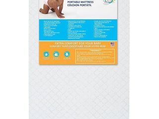 Dream On Me  Holly 3AaA Fiber Portable Crib Mattress I Waterproof I Green Guard Gold Certified I 10 Years Manufacture Warranty I Vinyl Cover I Made In The U S A I Mini Crib Mattress   Not Inspected