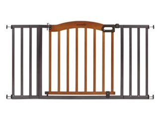 Summer Infant Decorative Wood   Metal Extra Wide Pressure Mounted Gate   Not Inspected