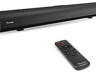 Soundbar Wohome Bluetooth TV Sound Bar 80W 34 Inch with 3 Equalizer Mode  Remote Control  Powerful 4 Speakers  Deep Bass  Optical Aux Coaxial Connection  Mount Kit  Wall Mountable  Model S20 DAMAGED