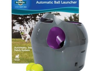 PetSafe Automatic Dog Toy Ball launcher   Interactive Tennis Ball Thrower for Dogs Indoor   Outdoor Adjustable Range Aaa Weather Resistant Aaa Options for A C Power or Battery Operated   Not Inspected