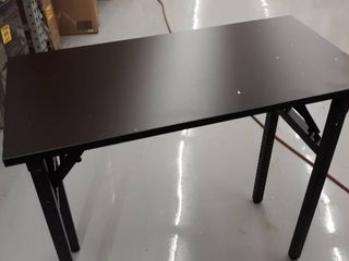 small folding table wood metal