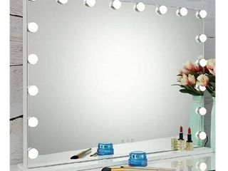 SHOWTIMEZ Vanity lighted Mirror Hollywood Makeup Mirror with lights  Dimmable 18 lED Bulbs and Three light Modes  W31 5 xH23 6
